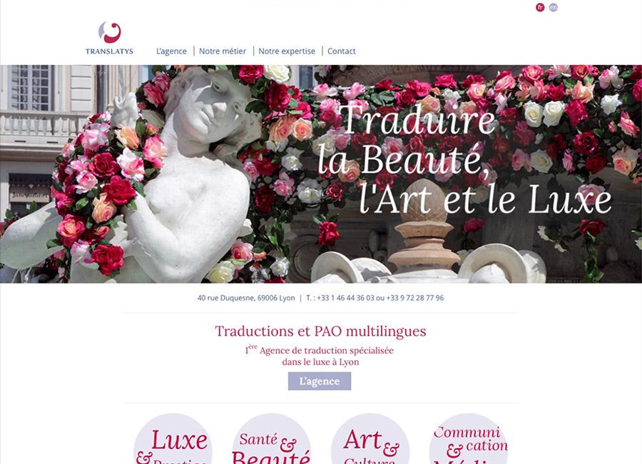 Création de site internet - translatys.fr